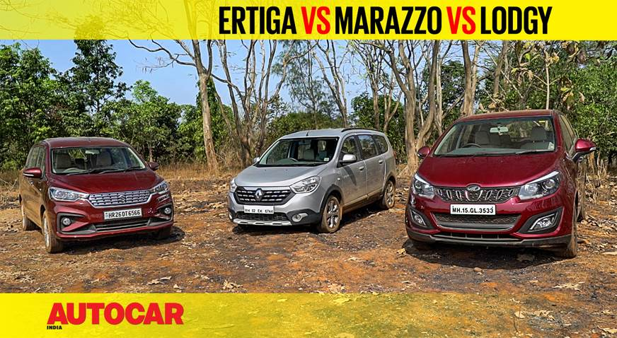 Ertiga vs Marazzo vs Lodgy comparison video
