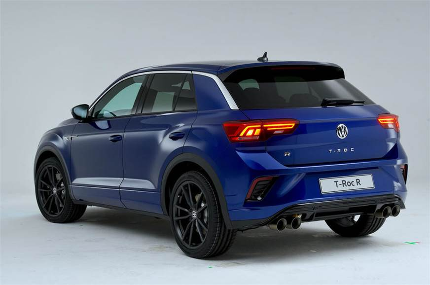 hotter volkswagen t roc r suv revealed autocar india. Black Bedroom Furniture Sets. Home Design Ideas