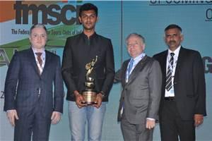 Rangasamy wins FMSCI Upcoming Motorsports Person of the Year award