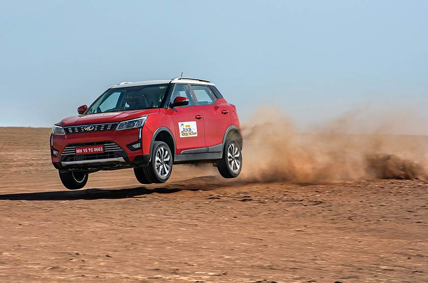 The XUV300 catches some air; although spectacular, not th...