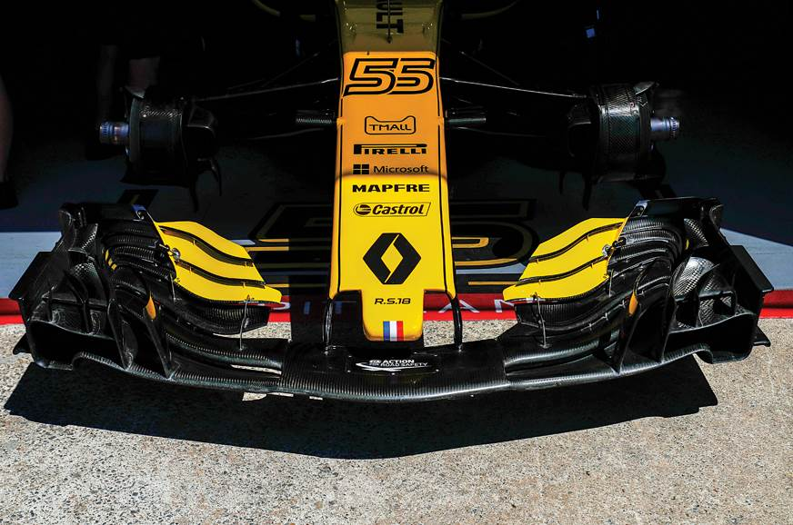 The complex front wings used last year will be replaced i...