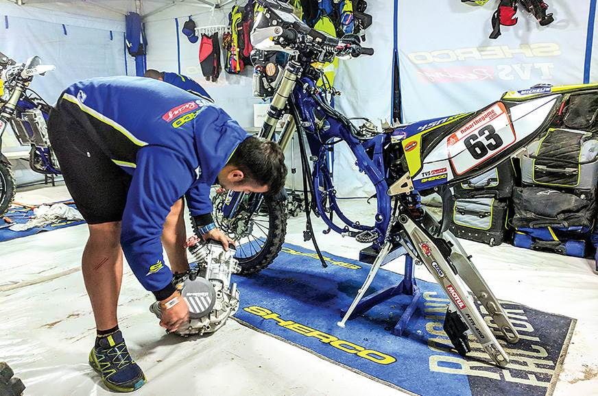 Bikes are fully stripped down and rebuilt after the marat...