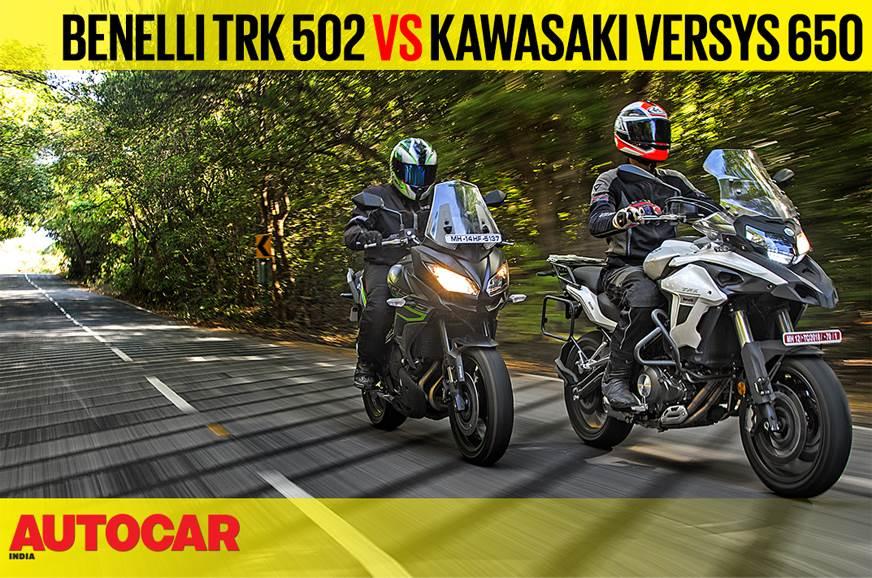 Benelli TRK 502 vs Kawasaki Versys 650 comparison video