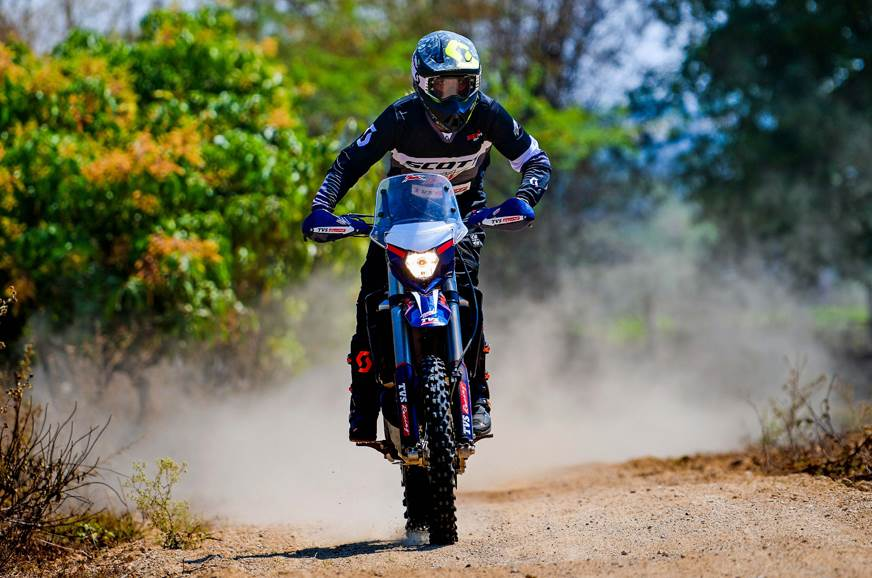 Aishwarya Pissay competing in FIM Bajas World Cup