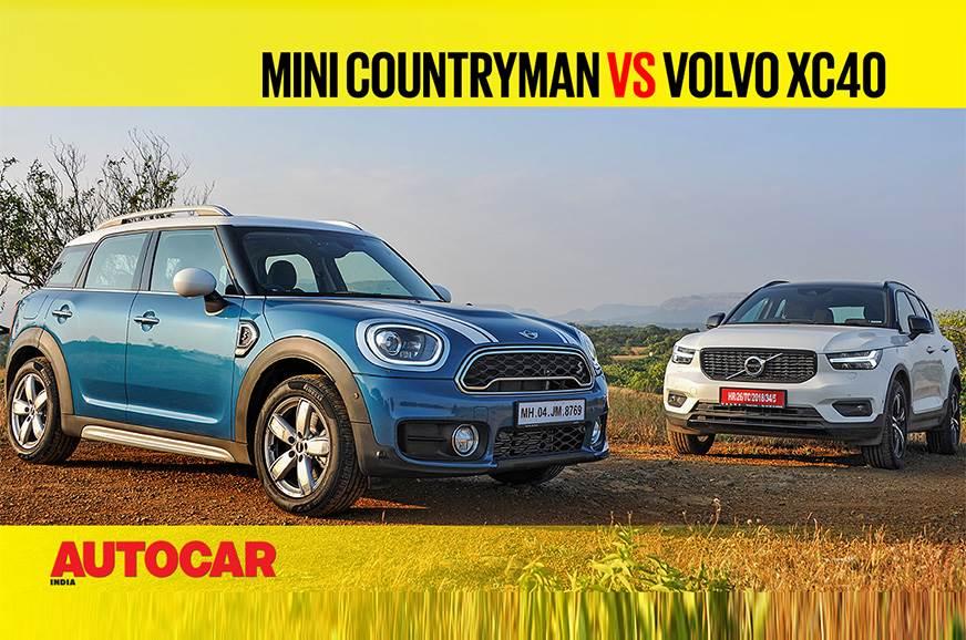 Mini Countryman vs Volvo XC40 comparison video