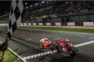 2019 Qatar MotoGP: Dovizioso pips Marquez to victory