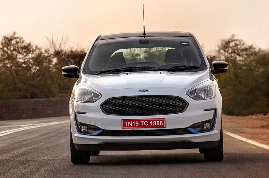 Image of the Ford Figo Titanium Blu used for representation only.