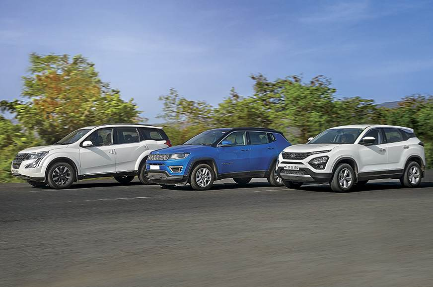 Tata Harrier vs Jeep Compass vs Mahindra XUV500 comparison