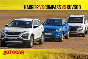 Harrier vs Compass vs XUV500 comparison video