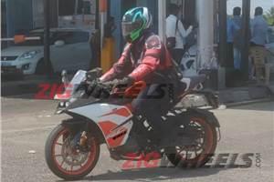 India-spec KTM RC 125 spied testing