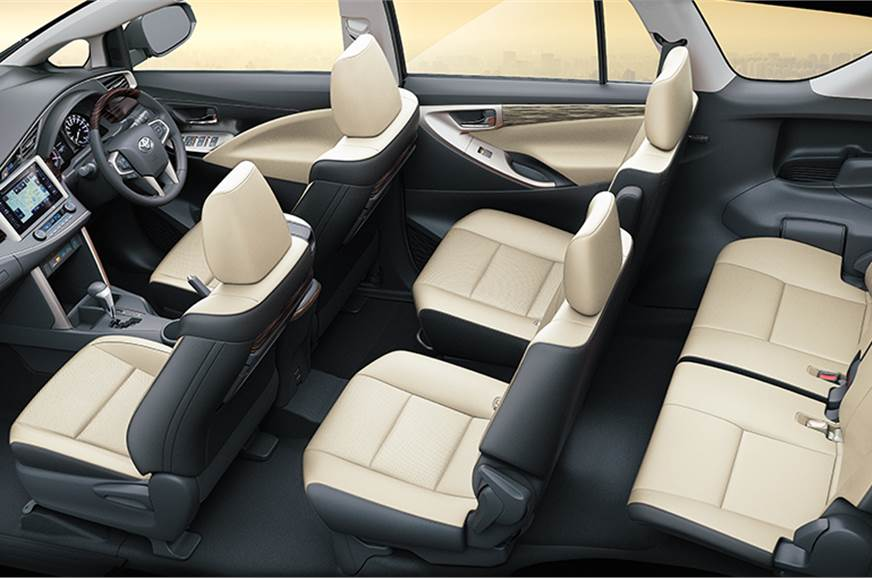 New dual-tone black/ivory seats on the Innova Crysta.