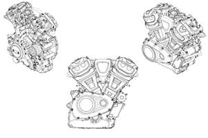 Upcoming Harley-Davidson V-Twin engine revealed in patent