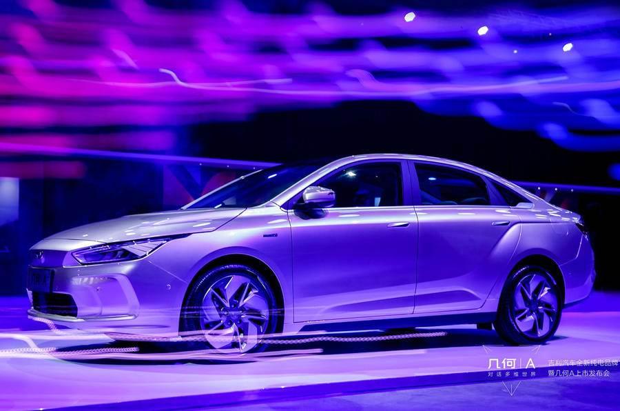 Geometry A sedan by Geely unveiled in Shanghai