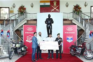 Jawa Motorcycles donates Rs 1.49 crore to Armed Forces Flag Day Fund