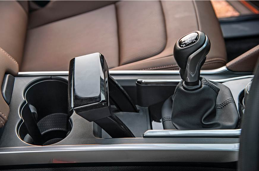 Thrust control-like handbrake lever nicer to look at than...