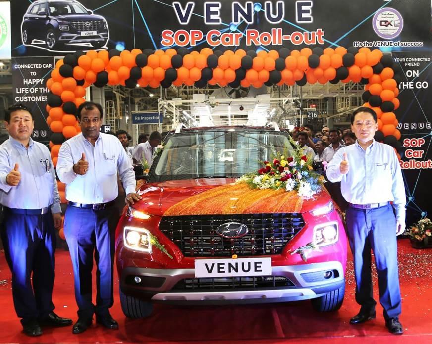 Hyundai Venue mass-production begins ahead of May 21 launch