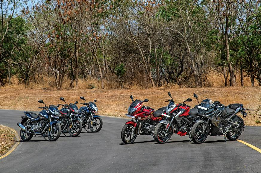 Bajaj bike prices with CBS/ABS listed