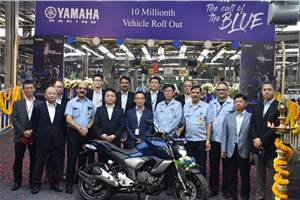 Yamaha India rolls out its 10 millionth two-wheeler