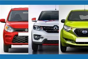 2019 Maruti Suzuki Alto vs rivals: Specifications comparison
