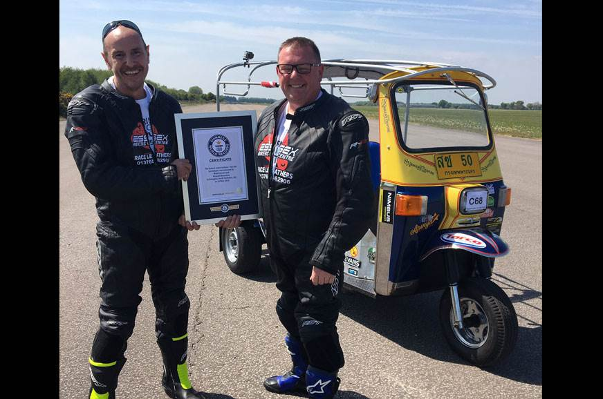 Fastest auto rickshaw in the world clocks 119.5kph, sets land speed record