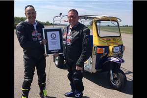 Fastest auto rickshaw in the world clocks 119.5kph, sets land speed record