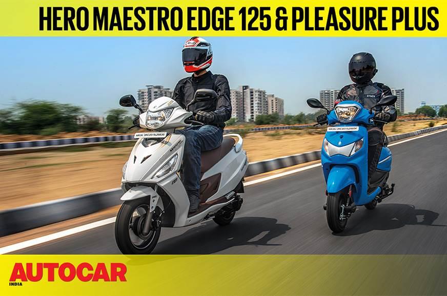 2019 Hero Maestro Edge 125 & Pleasure Plus video review