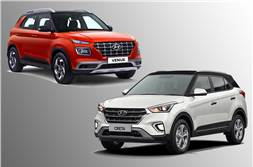 Hyundai Venue vs Creta price, fuel efficiency compared
