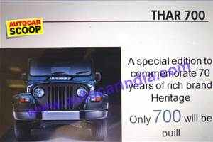 SCOOP! Mahindra Thar Signature Edition pictures leaked