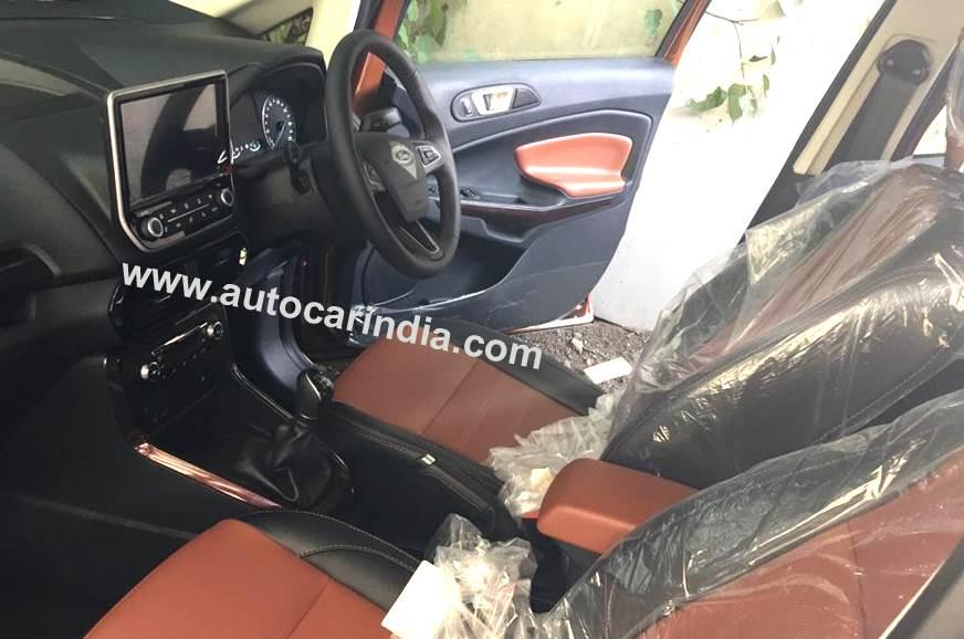 Ford EcoSport Thunder interior.