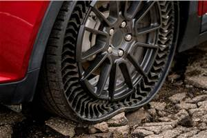 Upcoming General Motors EV to use Michelin's airless tyres