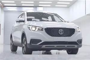 MG eZS electric SUV trial production begins