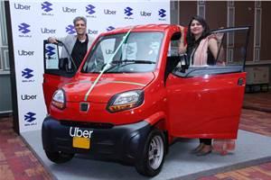 Now book a Bajaj Qute taxi through Uber