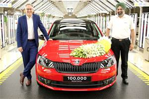 Skoda Rapid crosses 1 lakh production milestone