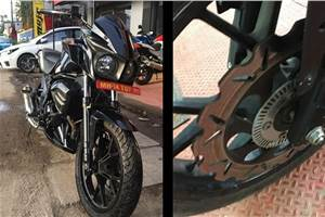 ABS-equipped Mahindra Mojo 300 spotted