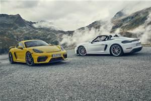 New Porsche 718 Cayman GT4, Boxster Spyder revealed