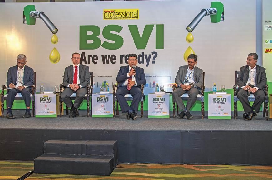 From Left to Right - Vinay Harne, President, NPD, TVS Motor Co.; Martin Schwenk, CEO, Mercedes-Benz India; Hormazd Sorabjee; CV Raman, Senior Executive Director (Engineering) Maruti Suzuki India; and Venkatram  Mamillapalle , MD, Renault India.