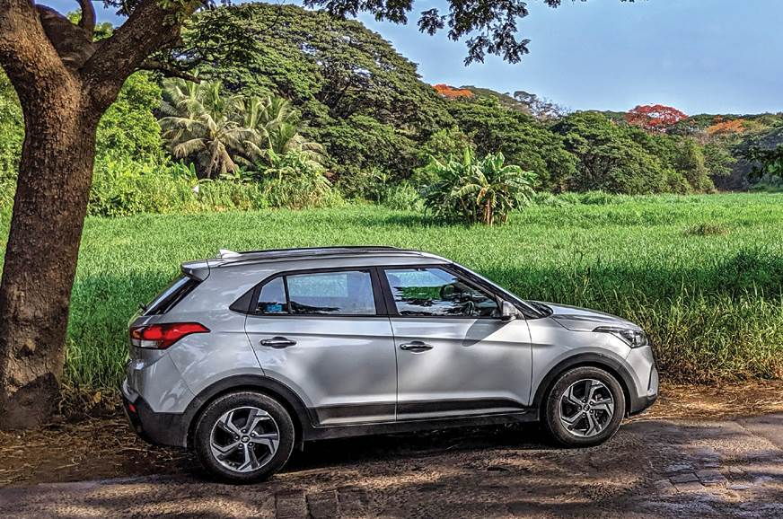 An SUV and green fields – a great antidote to city life.