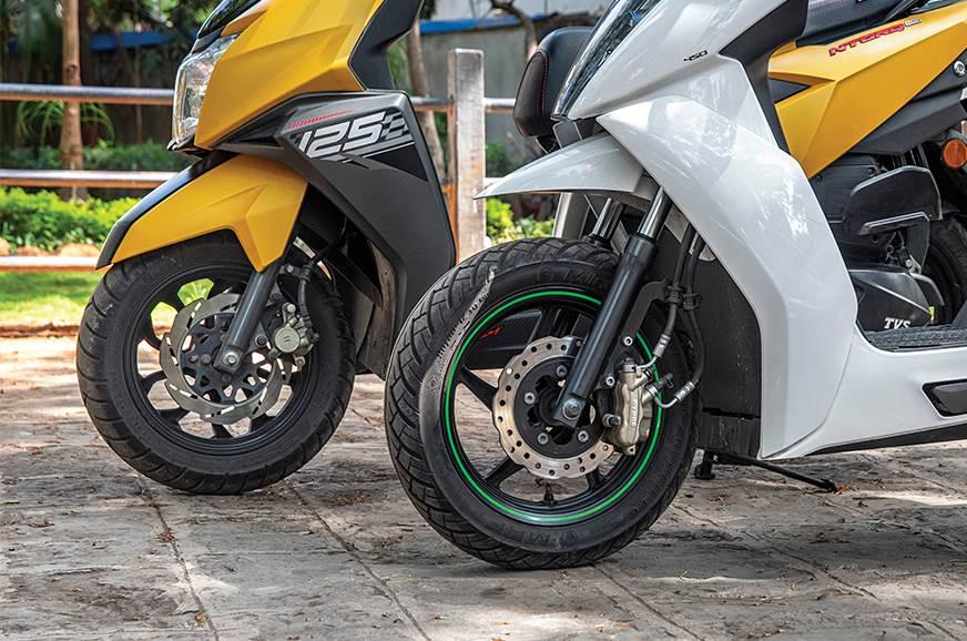 Wider rubber on the Ntorq offers a fine balance between a...