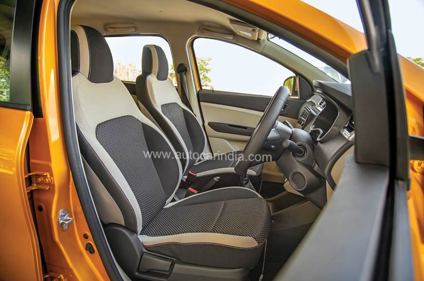Front seats are large, comfy and nicely bolstered.