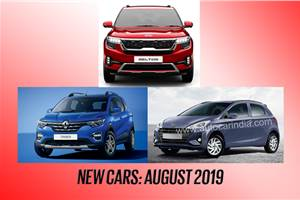5 new cars launching in August 2019
