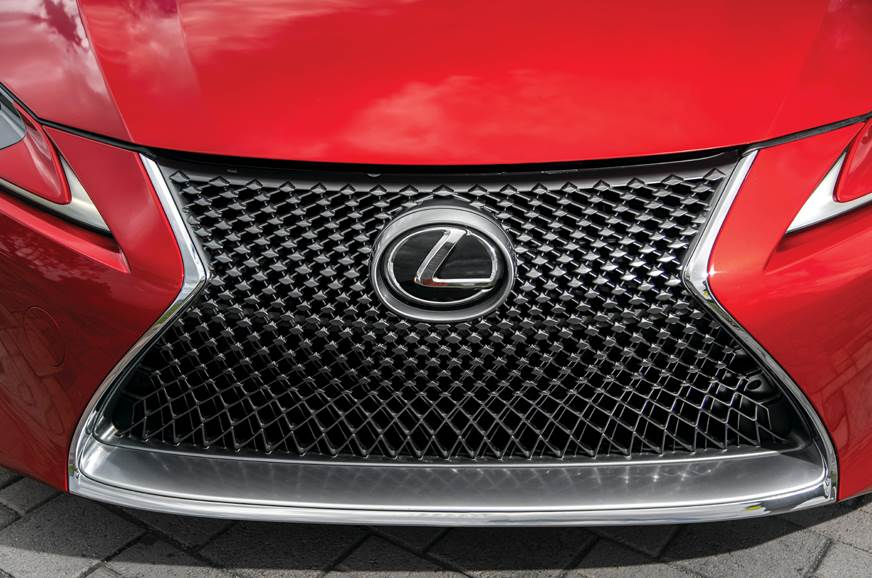 Large spindle grille of LC500 is hard to miss and is a Le...