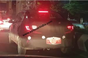 Next-gen Hyundai compact sedan spied in India
