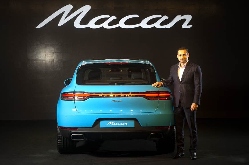 Pavan Shetty, director, Porsche India with the Macan facelift.