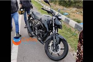 BS6 TVS Apache RTR 160 4V spotted testing