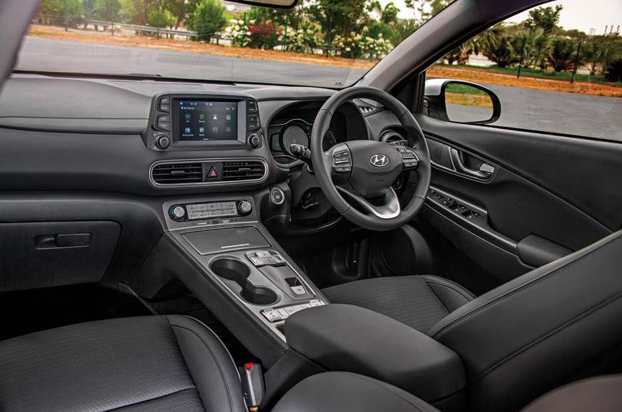 The Hyundai Kona Electric's feature-laden cabin exudes a ...