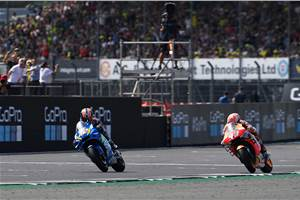 British MotoGP: Rins defeats Marquez to take photo-finish victory