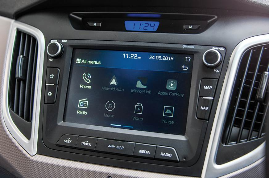 The Creta's satnav-equipped touchscreen is extremely user...
