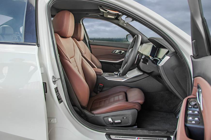 Sporty front seats offer adjustable side bolstering.
