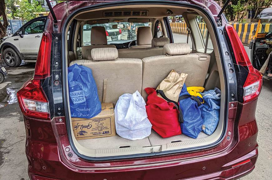 BIG SHOPPER - Boot easily takes a few bags and boxes with...
