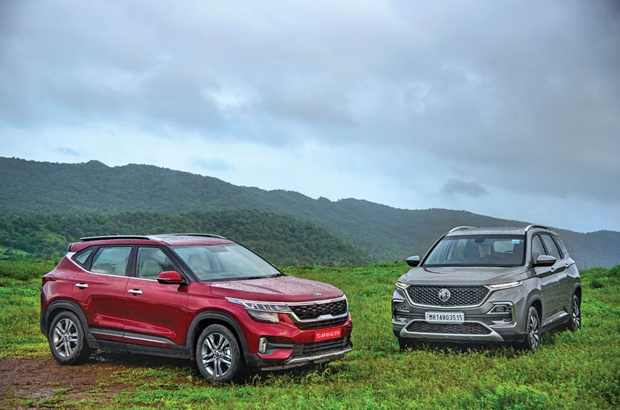 Kia Seltos vs MG Hector comparison